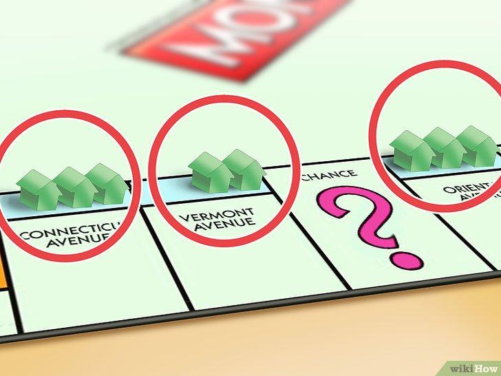 """Nếu bạn tậu được 1 lô tất cả các khu đất cùng màu với nhau rồi, bạn bắt đầu được xây nhà bằng cách mua nhà của ngân hàng và """"xây"""" nhà trên đất của mình."""