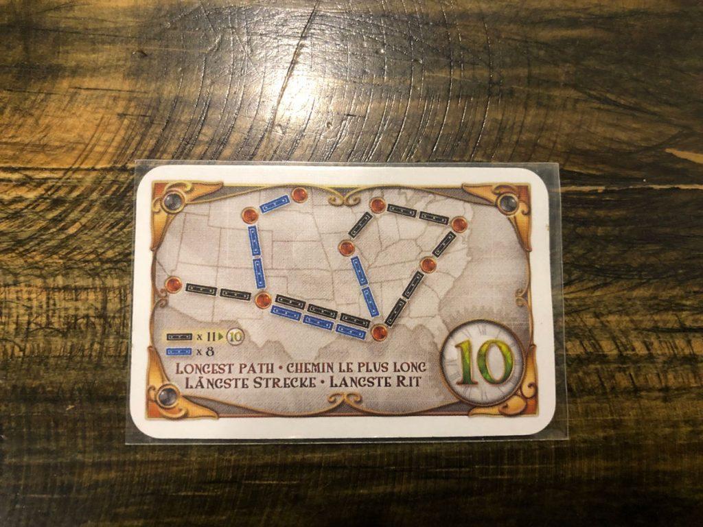 Người chơi có tuyến đường liên tục dài nhất (không tính nhánh) sẽ được thêm 10 điểm.
