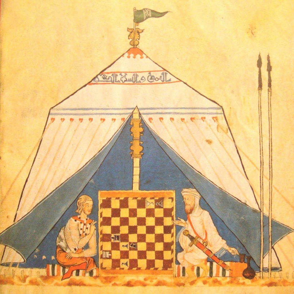 Một trận đấu cờ vua thời xưa