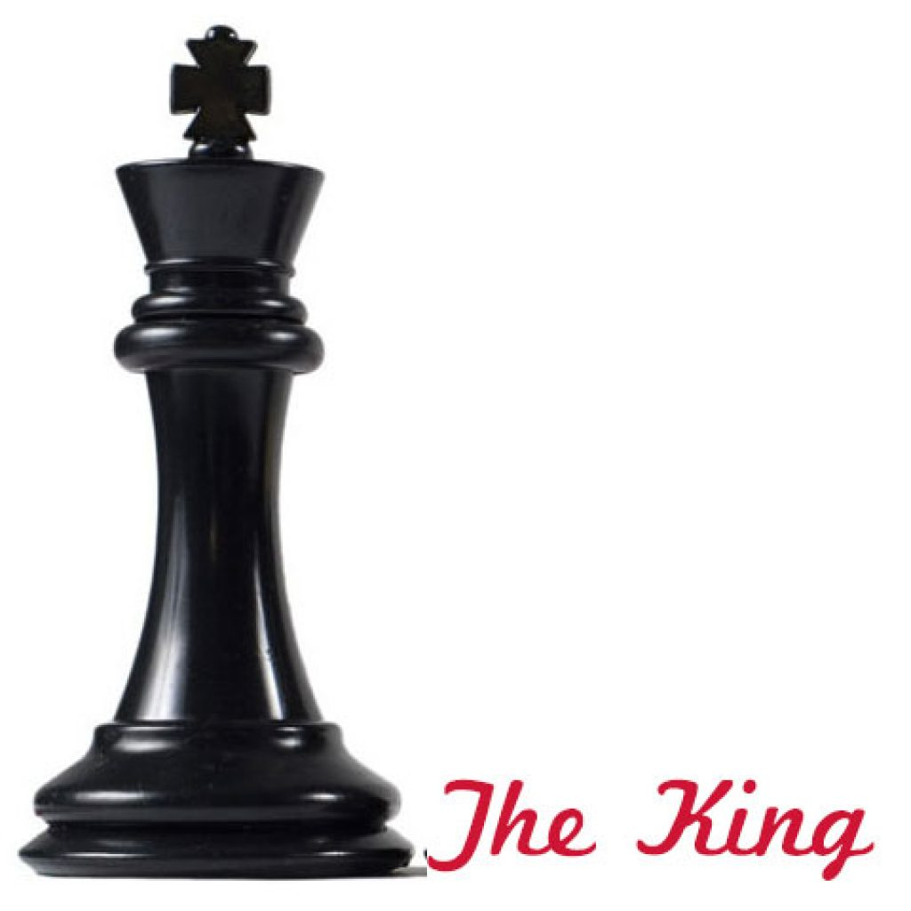 Hình dáng quân Vua trên bàn cờ