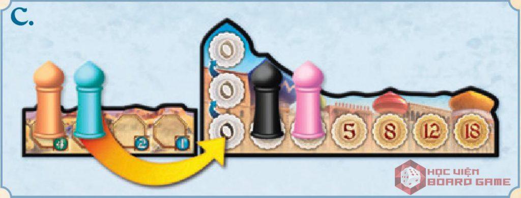Hướng dẫn cách đấu giá lượt chơi trong boardgame Five Tribes