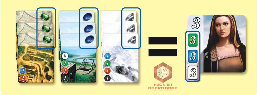 Thẻ quý tộc trong boardgame Splendor