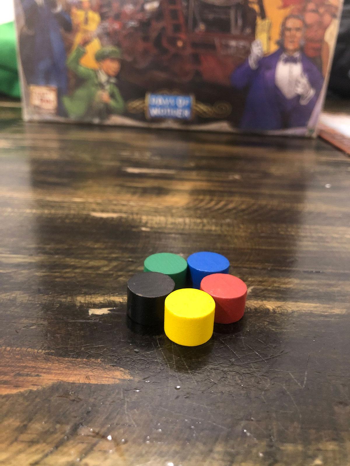 5 con dấu tính điểm cho 5 người chơi