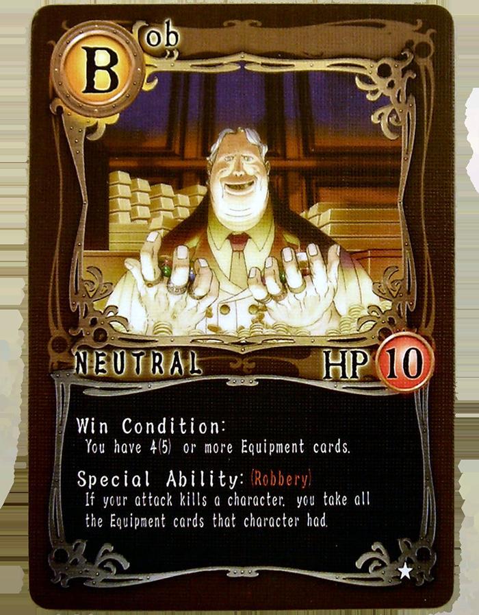 Card Nhân vật Bob - Kẻ cướp