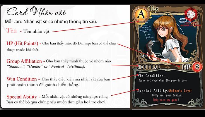 Những thông tin cần lưu ý trên card Nhân vật