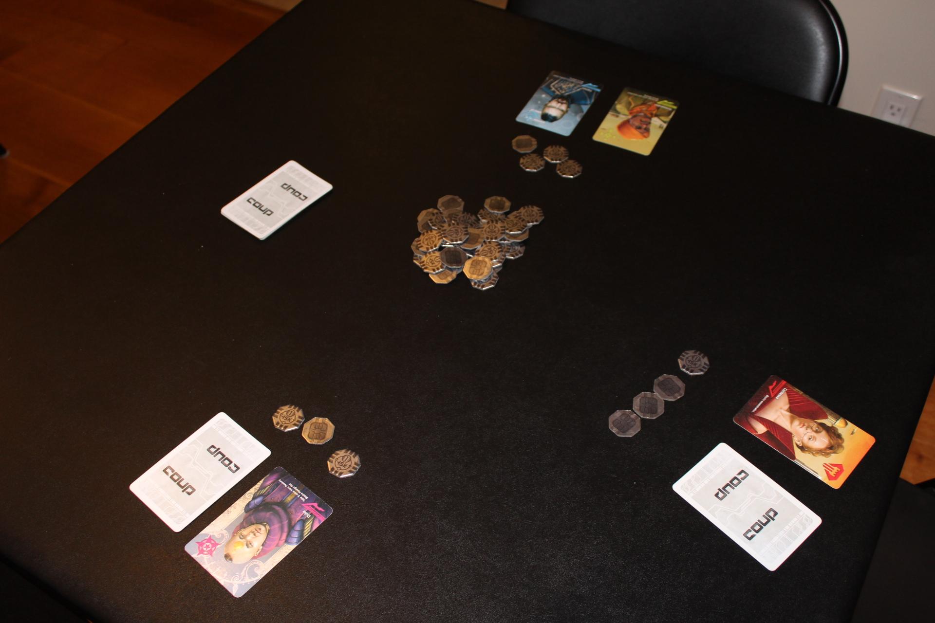 Hình minh hoạ cách set up board game Coup