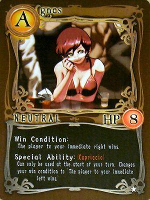 Card nhân vật phe Neutral - Agnes