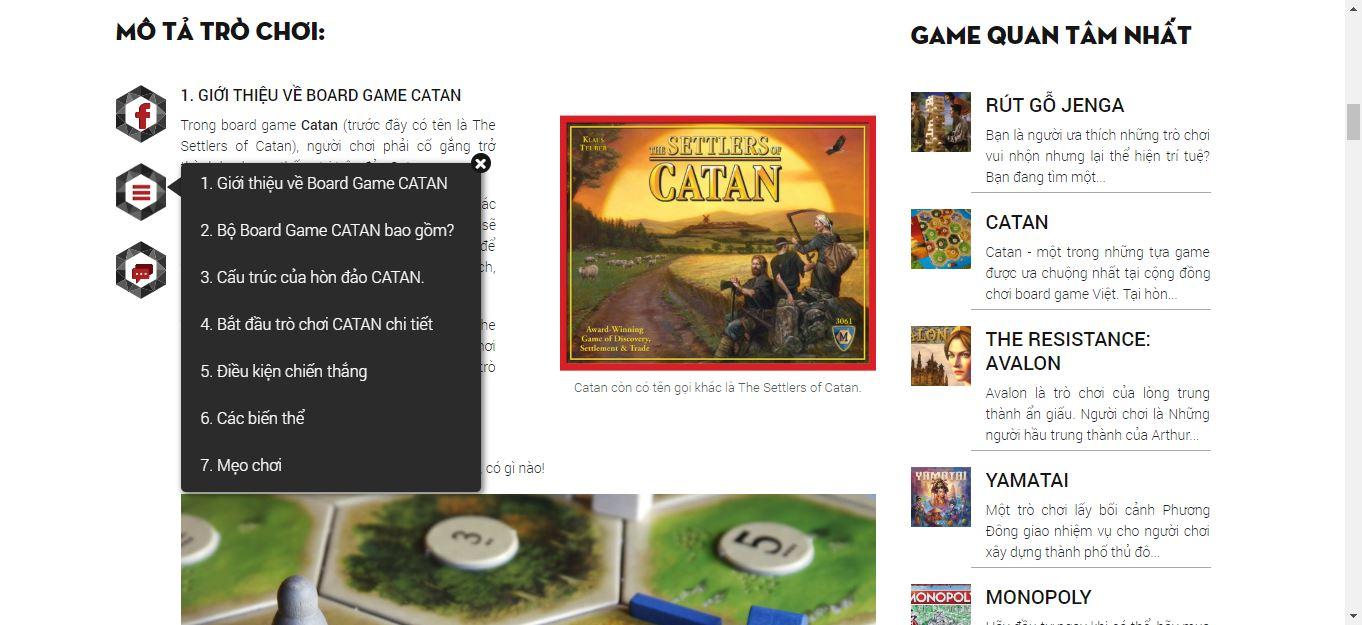 Demo một bài viết giới thiệu luật chơi Catan chi tiết và chính xác nhất tại Học viện Board Game