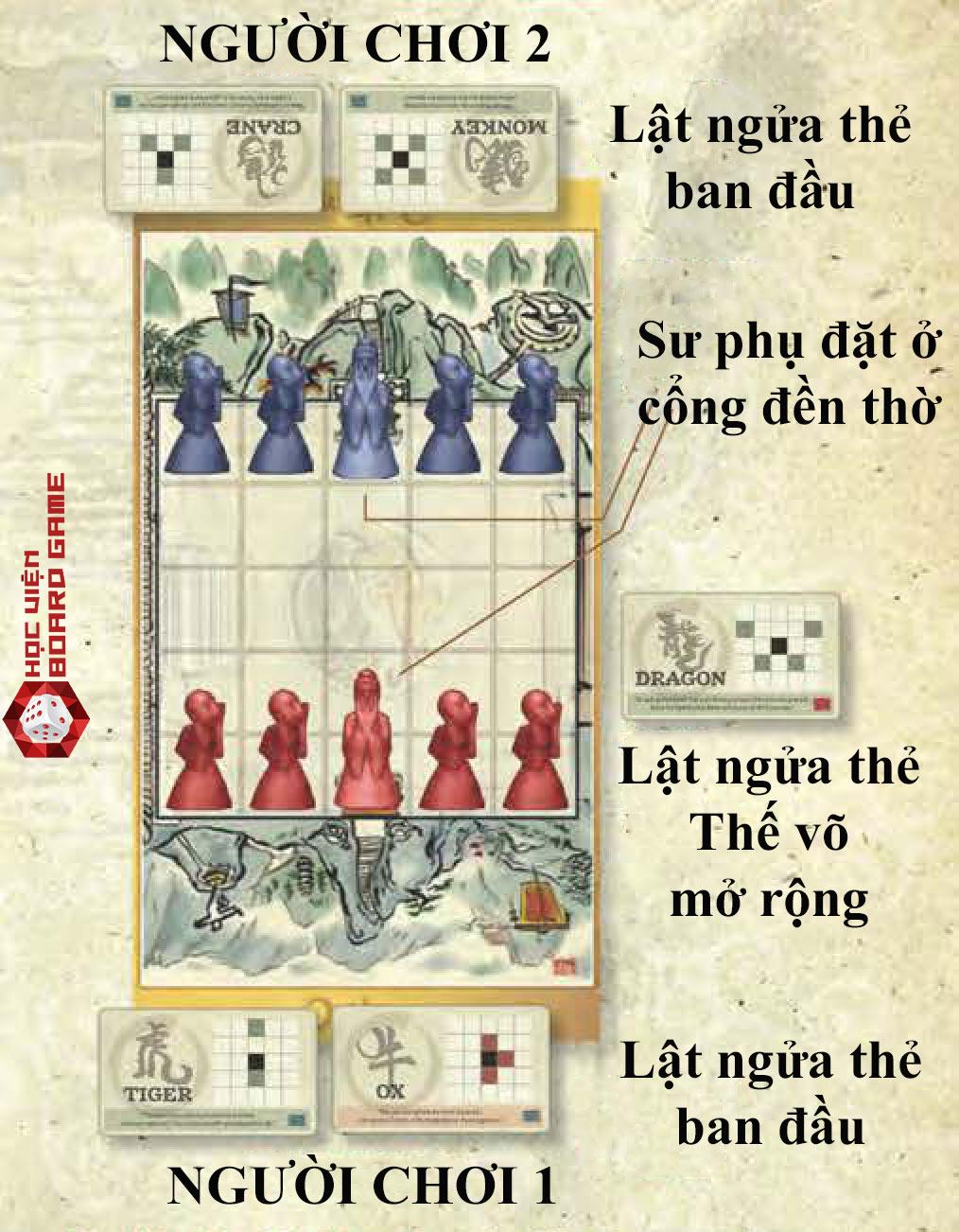 Hướng dẫn cách chơi boardgame onitama