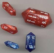 Cái này thì gọi là Anti-prism dice. Tôi không biết dịch thế nào. Bạn nào chuyên toán dịch hộ tôi quả Anti-prism với!