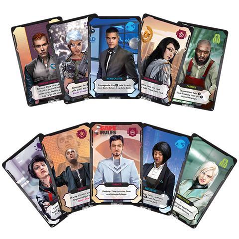 Các thẻ bài Influence trong board game Coup: Rebellion G54