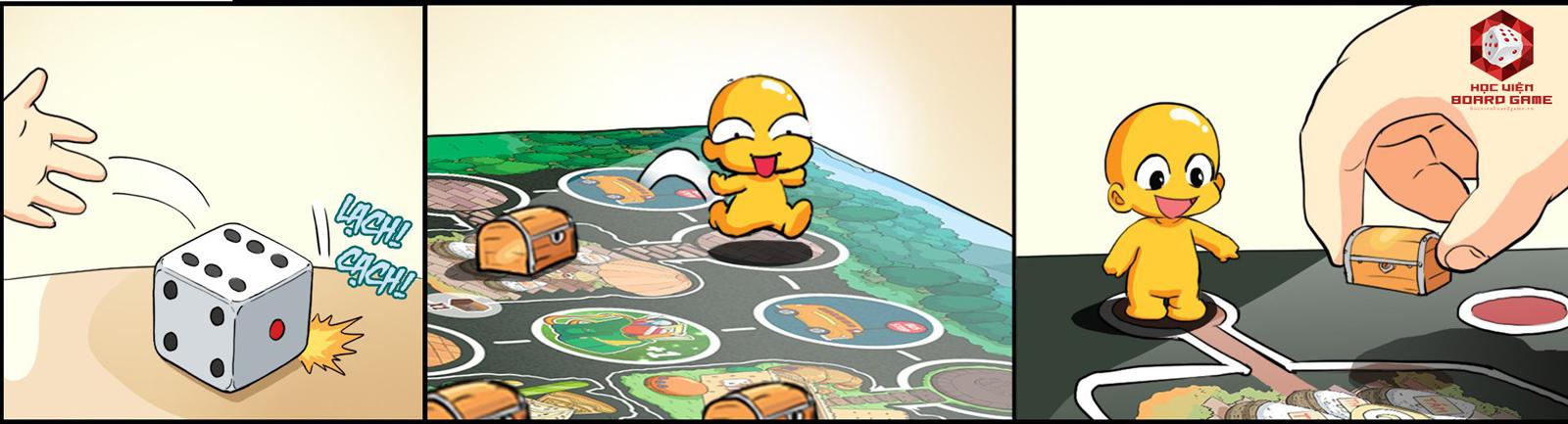 Hướng dẫn cách chơi board game Lớp học Mật Ngữ, cuộc đua sao chổi