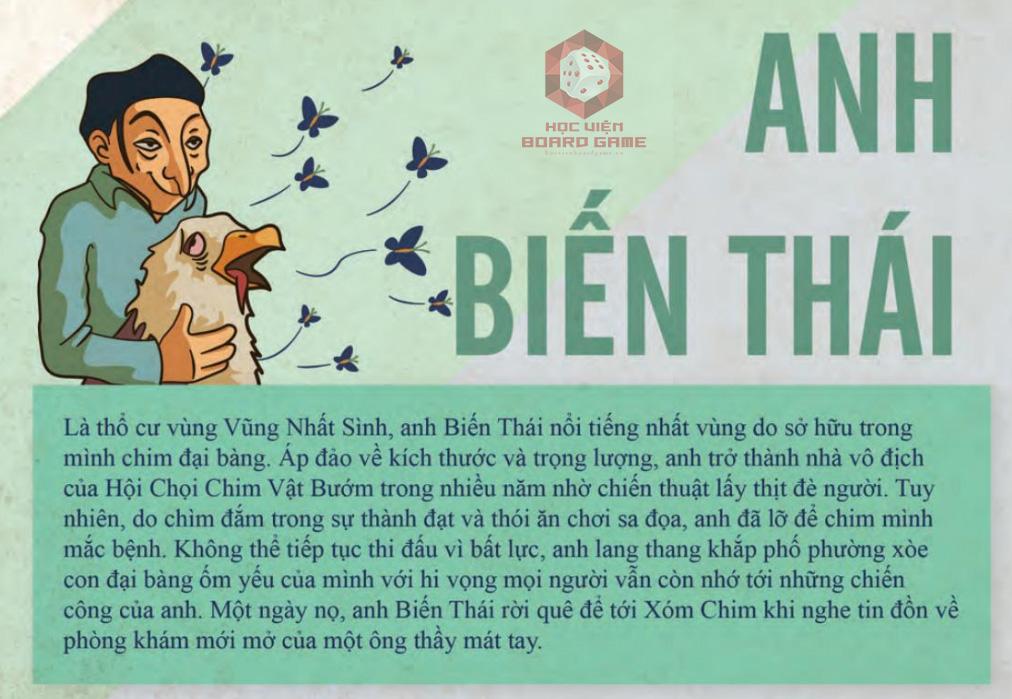 Đôi nét về nhân vật anh Biến Thái trong Board game Xóm Chim