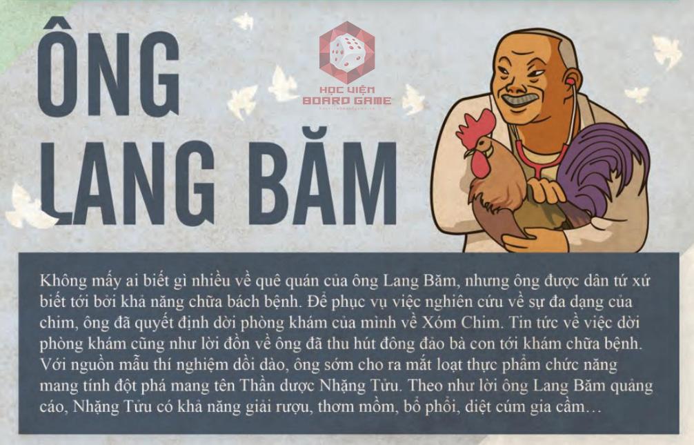 Đôi nét về nhân vật ông Lang Băm trong Board game Xóm Chim